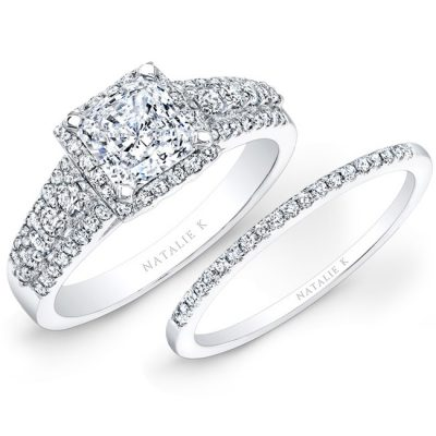 14K WHITE GOLD SQUARE HALO THREE ROW DIAMOND BRIDAL SET NK25867WE W 400x400 - 14K WHITE GOLD SQUARE HALO THREE ROW DIAMOND BRIDAL SET NK25867WE-W