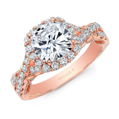 18K ROSE GOLD CUSHION SHAPE HALO CRISS CROSS ENGAGEMENT RING NK35971 R 400x400 - 18K ROSE GOLD CUSHION SHAPE HALO CRISS CROSS ENGAGEMENT RING NK35971-R