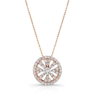 18K ROSE GOLD DIAMOND WHEEL PENDANT FM28983 18W 400x400 - 18K ROSE GOLD DIAMOND WHEEL PENDANT FM28983-18W