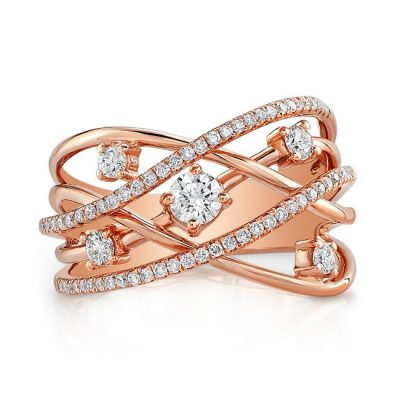 18K ROSE GOLD MULTIBAND DIAMOND FASHION BAND FM28999 18R 400x400 - 18K ROSE GOLD MULTIBAND DIAMOND FASHION BAND FM28999-18R