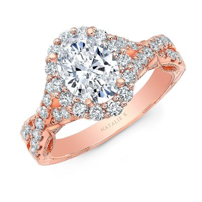 18K ROSE GOLD OVAL SHAPE HALO CRISS CROSS ENGAGEMENT RING NK35969 R 400x400 - 18K ROSE GOLD OVAL SHAPE HALO CRISS CROSS ENGAGEMENT RING NK35969-R
