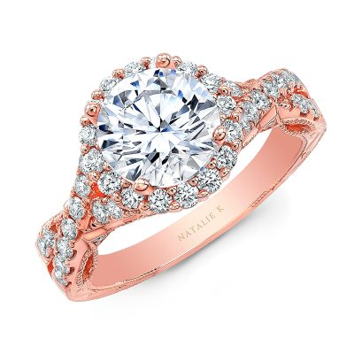18K ROSE GOLD ROUND SHAPE HALO CRISS CROSS ENGAGEMENT RING NK35964 R 400x400 - 18K ROSE GOLD ROUND SHAPE HALO CRISS CROSS ENGAGEMENT RING NK35964-R