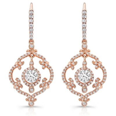 18K ROSE GOLD SCROLLWORK VINTAGEINSPIRED DIAMOND DROP EARRINGS FM28992 18R 400x400 - 18K ROSE GOLD SCROLLWORK VINTAGEINSPIRED DIAMOND DROP EARRINGS FM28992-18R