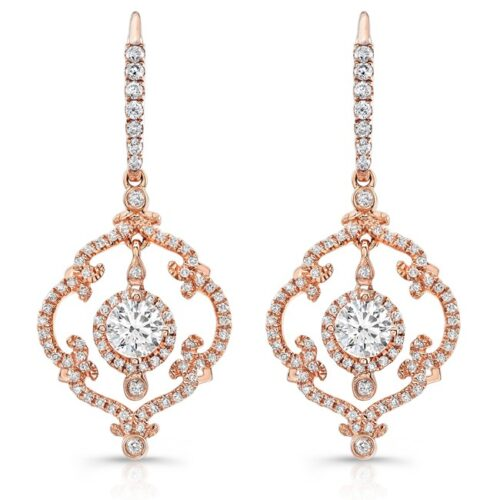 18K ROSE GOLD SCROLLWORK VINTAGEINSPIRED DIAMOND DROP EARRINGS FM28992 18R 500x500 - 18K ROSE GOLD SCROLLWORK VINTAGEINSPIRED DIAMOND DROP EARRINGS FM28992-18R