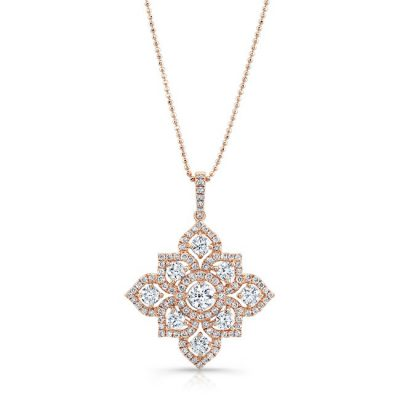 18K ROSE GOLD WHITE DIAMOND BLOSSOMING PENDANT FM31347 18R 400x400 - 18K ROSE GOLD WHITE DIAMOND BLOSSOMING PENDANT FM31347-18R