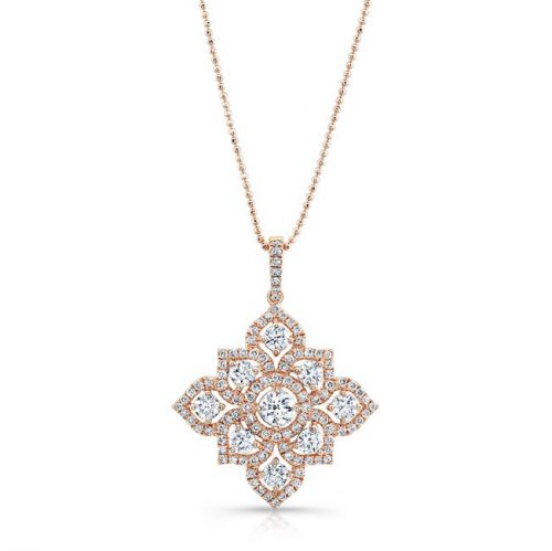 18K ROSE GOLD WHITE DIAMOND BLOSSOMING PENDANT FM31347 18R 500x499 - 18K ROSE GOLD WHITE DIAMOND BLOSSOMING PENDANT FM31347-18R