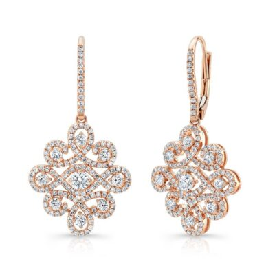 18K ROSE GOLD WHITE DIAMOND DROP EARRINGS FM31336 18R 400x400 - 18K ROSE GOLD WHITE DIAMOND DROP EARRINGS FM31336-18R