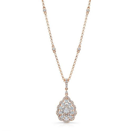 18K ROSE GOLD WHITE DIAMOND PEAR SHAPED CENTER FM31333 18W 500x499 - 18K ROSE GOLD WHITE DIAMOND PEAR SHAPED CENTER FM31333-18W