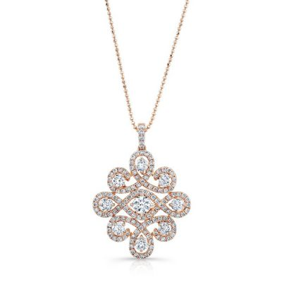18K ROSE GOLD WHITE DIAMOND PENDANT FM31343 18R 400x400 - 18K ROSE GOLD WHITE DIAMOND PENDANT FM31343-18R