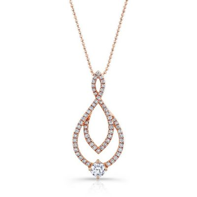 18K ROSE GOLD WHITE DIAMOND ROUND CENTER MARQUISE FRAME PENDANT FM29018 18R 400x400 - 18K ROSE GOLD WHITE DIAMOND ROUND CENTER MARQUISE FRAME PENDANT FM29018-18R