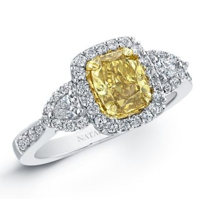 18K WHITE AND YELLOW GOLD FANCY YELLOW CUSHION DIAMOND ENGAGEMENT RING NK20889FY WY 2 400x400 - 18K WHITE AND YELLOW GOLD FANCY YELLOW CUSHION DIAMOND ENGAGEMENT RING NK20889FY-WY