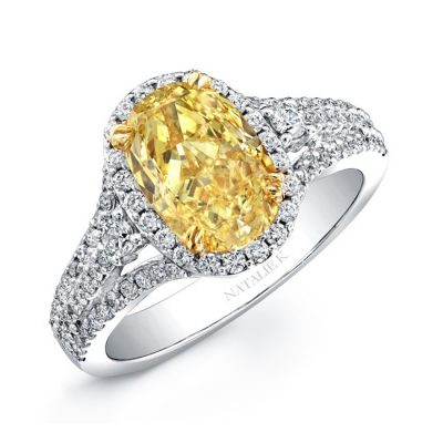 18K WHITE AND YELLOW GOLD FANCY YELLOW OVAL DIAMOND ENGAGEMENT RING NK20886FY WY 400x400 - 18K WHITE AND YELLOW GOLD FANCY YELLOW OVAL DIAMOND ENGAGEMENT RING NK20886FY-WY