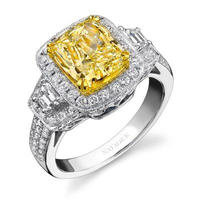 18K WHITE AND YELLOW GOLD TRAPEZOIDS DIAMOND RING NK12761FY WY 400x400 - 18K WHITE AND YELLOW GOLD TRAPEZOIDS DIAMOND RING NK12761FY-WY