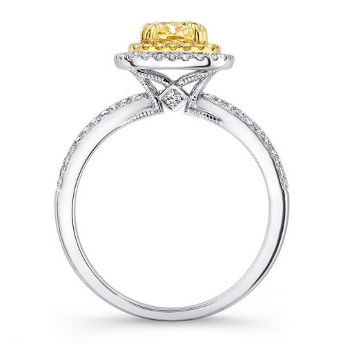 18K WHITE AND YELLOW GOLD YELLOW DIAMOND CENTER AND HALO ENGAGEMENT RING FM30887FY 18WY 1 500x499 - 18K WHITE AND YELLOW GOLD YELLOW DIAMOND CENTER AND HALO ENGAGEMENT RING FM30887FY-18WY