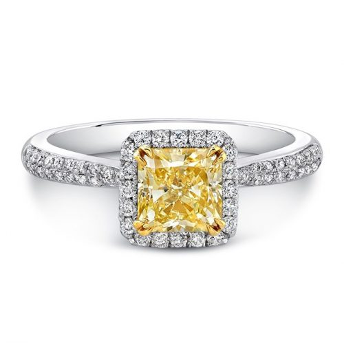 18K WHITE AND YELLOW GOLD YELLOW DIAMOND CENTER WHITE DIAMOND HALO ENGAGEMENT RING FM30880FY 18WY 500x499 - 18K WHITE AND YELLOW GOLD YELLOW DIAMOND CENTER WHITE DIAMOND HALO ENGAGEMENT RING FM30880FY-18WY