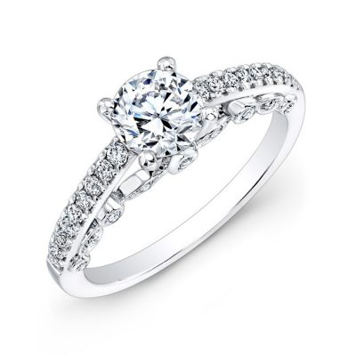 18K WHITE GOLD BEZEL SET DIAMOND GALLERY ENGAGEMENT RING FM27059 18W 400x400 - 18K WHITE GOLD BEZEL SET DIAMOND GALLERY ENGAGEMENT RING FM27059-18W