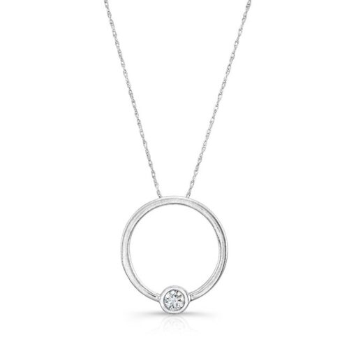 18K WHITE GOLD CIRCLE WHITE DIAMOND PENDANT FM29100 18W 500x499 - 18K WHITE GOLD CIRCLE WHITE DIAMOND PENDANT FM29100-18W
