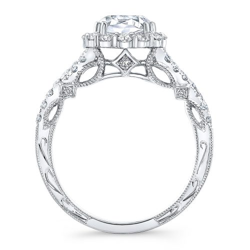 18K WHITE GOLD CUSHION SHAPE HALO CRISS CROSS ENGAGEMENT RING NK35971 W 1 500x500 - 18K WHITE GOLD CUSHION SHAPE HALO CRISS CROSS ENGAGEMENT RING NK35971-W