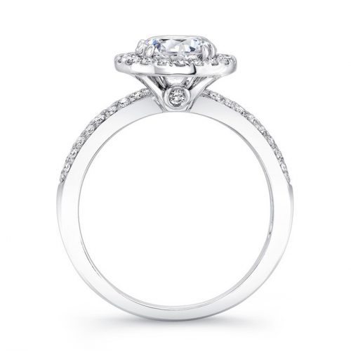 18K WHITE GOLD DIAMOND BAND BEZELSET ACCENT DIAMOND HALO ENGAGEMENT RING FM27158 18W 2 500x499 - 18K WHITE GOLD DIAMOND BAND BEZELSET ACCENT DIAMOND HALO ENGAGEMENT RING FM27158-18W