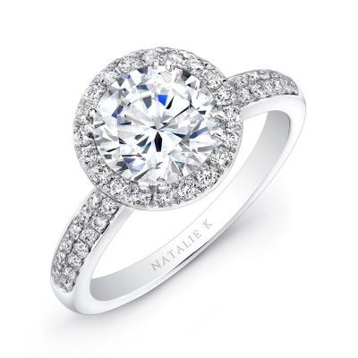 18K WHITE GOLD DIAMOND BAND BEZELSET ACCENT DIAMOND HALO ENGAGEMENT RING FM27158 18W 400x400 - 18K WHITE GOLD DIAMOND BAND BEZELSET ACCENT DIAMOND HALO ENGAGEMENT RING FM27158-18W