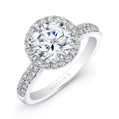 18K WHITE GOLD DIAMOND BAND BEZELSET ACCENT DIAMOND HALO ENGAGEMENT RING FM27158 18W 500x499 - 18K WHITE GOLD DIAMOND BAND BEZELSET ACCENT DIAMOND HALO ENGAGEMENT RING FM27158-18W