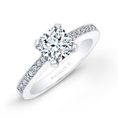 18K WHITE GOLD DIAMOND BAND ENGAGEMENT RING FM17236 18W 400x400 - 18K WHITE GOLD DIAMOND BAND ENGAGEMENT RING FM17236-18W