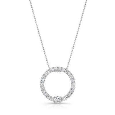 18K WHITE GOLD DIAMOND CIRCLE PENDANT FM29320 18W 400x400 - 18K WHITE GOLD DIAMOND CIRCLE PENDANT FM29320-18W