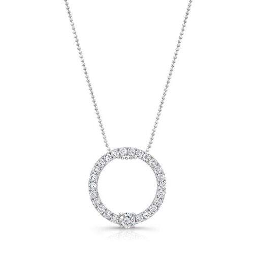 18K WHITE GOLD DIAMOND CIRCLE PENDANT FM29320 18W 500x499 - 18K WHITE GOLD DIAMOND CIRCLE PENDANT FM29320-18W