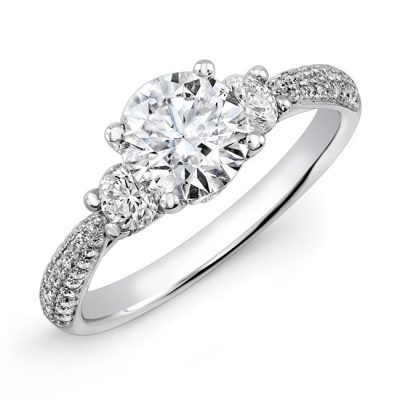 18K WHITE GOLD DIAMOND ENGAGEMENT RING NK29611 18W 400x400 - 18K WHITE GOLD DIAMOND ENGAGEMENT RING NK29611-18W