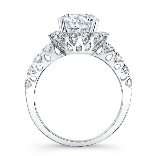 18K WHITE GOLD DIAMOND ENGAGEMENT RING WITH CUTOUTS NK33411ATD W 1 500x500 - 18K WHITE GOLD DIAMOND ENGAGEMENT RING WITH CUTOUTS NK33411ATD-W