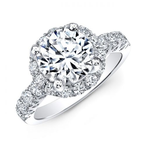 18K WHITE GOLD DIAMOND ENGAGEMENT RING WITH CUTOUTS NK33411ATD W 500x500 - 18K WHITE GOLD DIAMOND ENGAGEMENT RING WITH CUTOUTS NK33411ATD-W