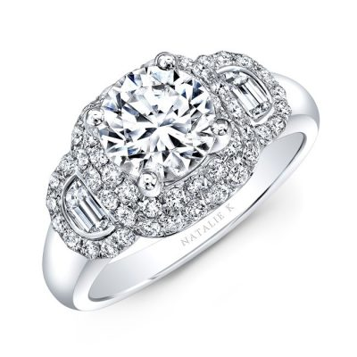 18K WHITE GOLD DIAMOND HALF MOON BAGUETTE DIAMOND ENGAGEMENT RING NK33419AZD W 400x400 - 18K WHITE GOLD DIAMOND HALF MOON BAGUETTE DIAMOND ENGAGEMENT RING NK33419AZD-W