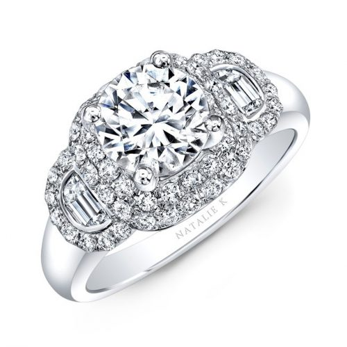 18K WHITE GOLD DIAMOND HALF MOON BAGUETTE DIAMOND ENGAGEMENT RING NK33419AZD W 500x499 - 18K WHITE GOLD DIAMOND HALF MOON BAGUETTE DIAMOND ENGAGEMENT RING NK33419AZD-W