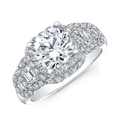 18K WHITE GOLD DIAMOND HALF MOON BAGUETTE DIAMOND RIBBON ENGAGEMENT RING NK33413AZD W 400x400 - 18K WHITE GOLD DIAMOND HALF MOON BAGUETTE DIAMOND RIBBON ENGAGEMENT RING NK33413AZD-W