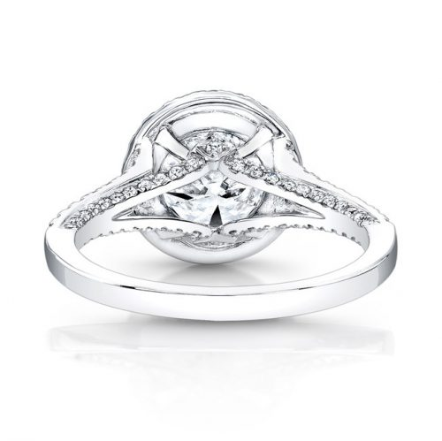 18K WHITE GOLD DIAMOND HALO AND GALLERY ENGAGEMENT RING FM26764 18W 2 500x499 - 18K WHITE GOLD DIAMOND HALO AND GALLERY ENGAGEMENT RING FM26764-18W