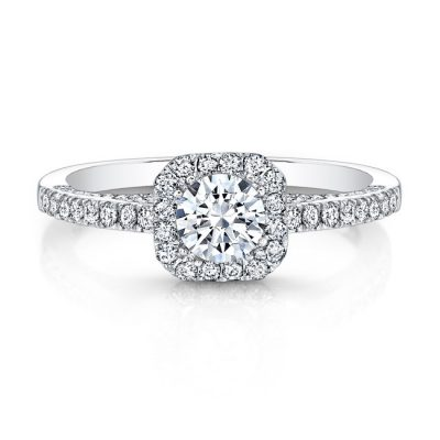 18K WHITE GOLD DIAMOND HALO ART DECO GALLERY ENGAGEMENT RING FM27614 18W 400x400 - 18K WHITE GOLD DIAMOND HALO ART DECO GALLERY ENGAGEMENT RING FM27614-18W