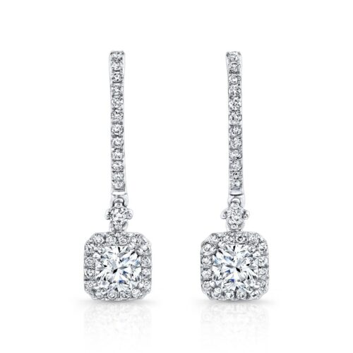 18K WHITE GOLD DIAMOND HALO DROP EARRINGS FM26956 18W 500x500 - 18K WHITE GOLD DIAMOND HALO DROP EARRINGS FM26956-18W