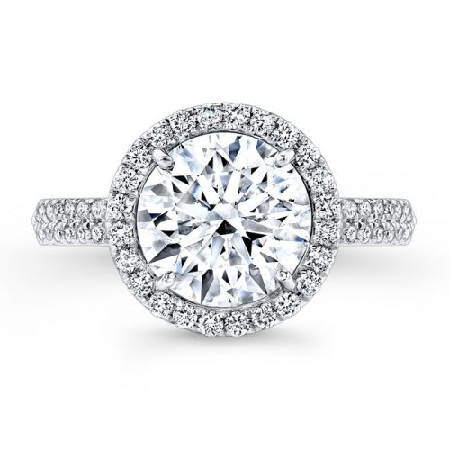 18K WHITE GOLD DIAMOND HALO ENGAGEMENT RING FM26767 18W 1 500x499 - 18K WHITE GOLD DIAMOND HALO ENGAGEMENT RING FM26767-18W