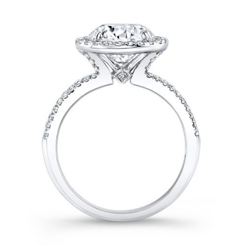 18K WHITE GOLD DIAMOND HALO ENGAGEMENT RING FM26767 18W 2 500x499 - 18K WHITE GOLD DIAMOND HALO ENGAGEMENT RING FM26767-18W