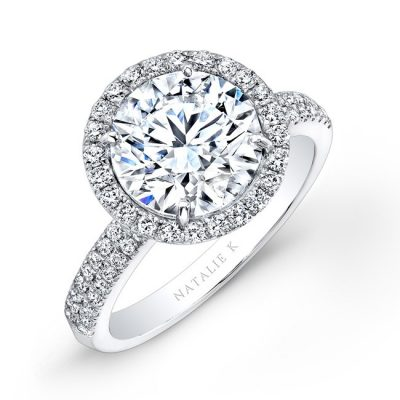 18K WHITE GOLD DIAMOND HALO ENGAGEMENT RING FM26767 18W 400x400 - 18K WHITE GOLD DIAMOND HALO ENGAGEMENT RING FM26767-18W