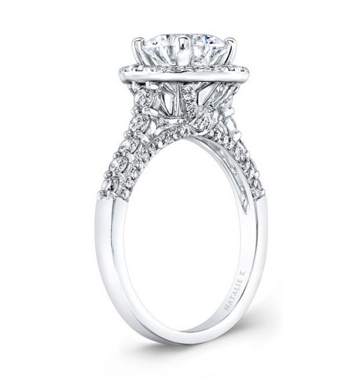 18K WHITE GOLD DIAMOND HALO ENGAGEMENT RING NK29376 18W 2 500x539 - 18K WHITE GOLD DIAMOND HALO ENGAGEMENT RING NK29376-18W