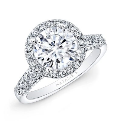 18K WHITE GOLD DIAMOND HALO ENGAGEMENT RING NK29376 18W 400x400 - 18K WHITE GOLD DIAMOND HALO ENGAGEMENT RING NK29376-18W