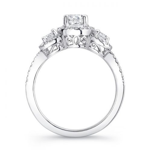 18K WHITE GOLD DIAMOND HALO ROUND DIAMOND SIDE STONE ENGAGEMENT RING FM17942 W 2 500x500 - 18K WHITE GOLD DIAMOND HALO ROUND DIAMOND SIDE STONE ENGAGEMENT RING FM17942-W