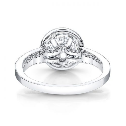 18K WHITE GOLD DIAMOND HALO SCALLOP DETAIL GALLERY ENGAGEMENT RING FM26991 18W 2 500x500 - 18K WHITE GOLD DIAMOND HALO SCALLOP DETAIL GALLERY ENGAGEMENT RING FM26991-18W