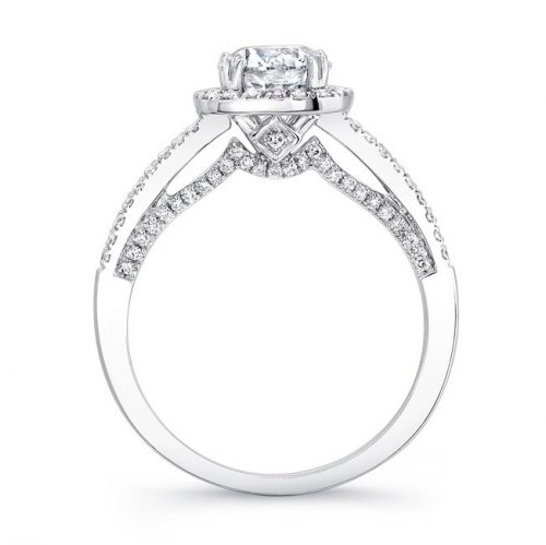 18K WHITE GOLD DIAMOND HALO SCALLOPED EDGE DIAMOND GALLERY ENGAGEMENT RING FM27022 18W 2 500x499 - 18K WHITE GOLD DIAMOND HALO SCALLOPED EDGE DIAMOND GALLERY ENGAGEMENT RING FM27022-18W
