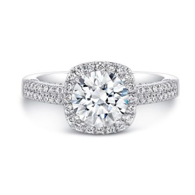 18K WHITE GOLD DIAMOND HALO SCALLOPED EDGE DIAMOND GALLERY ENGAGEMENT RING FM27022 18W 400x400 - 18K WHITE GOLD DIAMOND HALO SCALLOPED EDGE DIAMOND GALLERY ENGAGEMENT RING FM27022-18W
