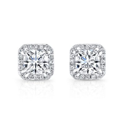 18K WHITE GOLD DIAMOND HALO STUDS FM26948 18W 400x400 - 18K WHITE GOLD DIAMOND HALO STUDS FM26948-18W