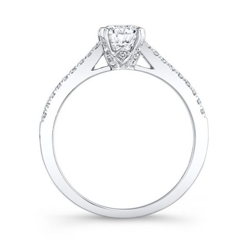 18K WHITE GOLD DIAMOND LINED BAND AND PRONG ENGAGEMENT RING FM26966 18W 1 500x499 - 18K WHITE GOLD DIAMOND LINED BAND AND PRONG ENGAGEMENT RING FM26966-18W