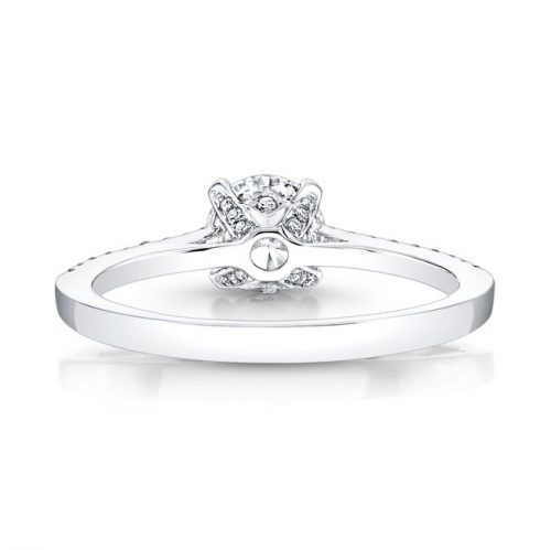18K WHITE GOLD DIAMOND LINED BAND AND PRONG ENGAGEMENT RING FM26966 18W 2 500x499 - 18K WHITE GOLD DIAMOND LINED BAND AND PRONG ENGAGEMENT RING FM26966-18W
