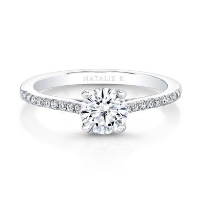 18K WHITE GOLD DIAMOND LINED BAND AND PRONG ENGAGEMENT RING FM26966 18W 400x400 - 18K WHITE GOLD DIAMOND LINED BAND AND PRONG ENGAGEMENT RING FM26966-18W